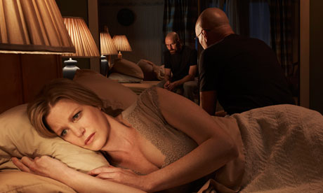 Breaking Bad: Anna Gunn as Skyler White and Bryan Cranston as Walter White