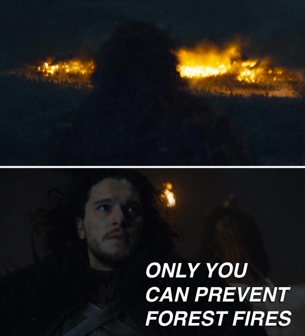Jon Snow Mance Rayder Fire Signal