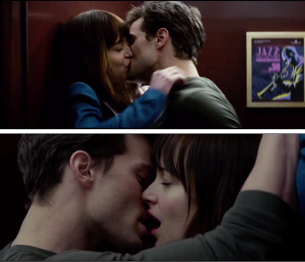 Fifty Shades of Grey Trailer Hot Elevator Kiss